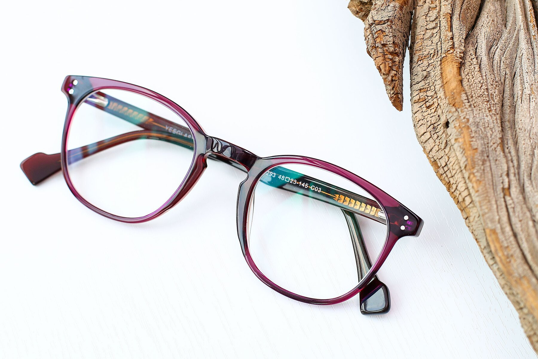 Women's lifestyle photography #1 of 17293 in Violet with Clear Eyeglass Lenses
