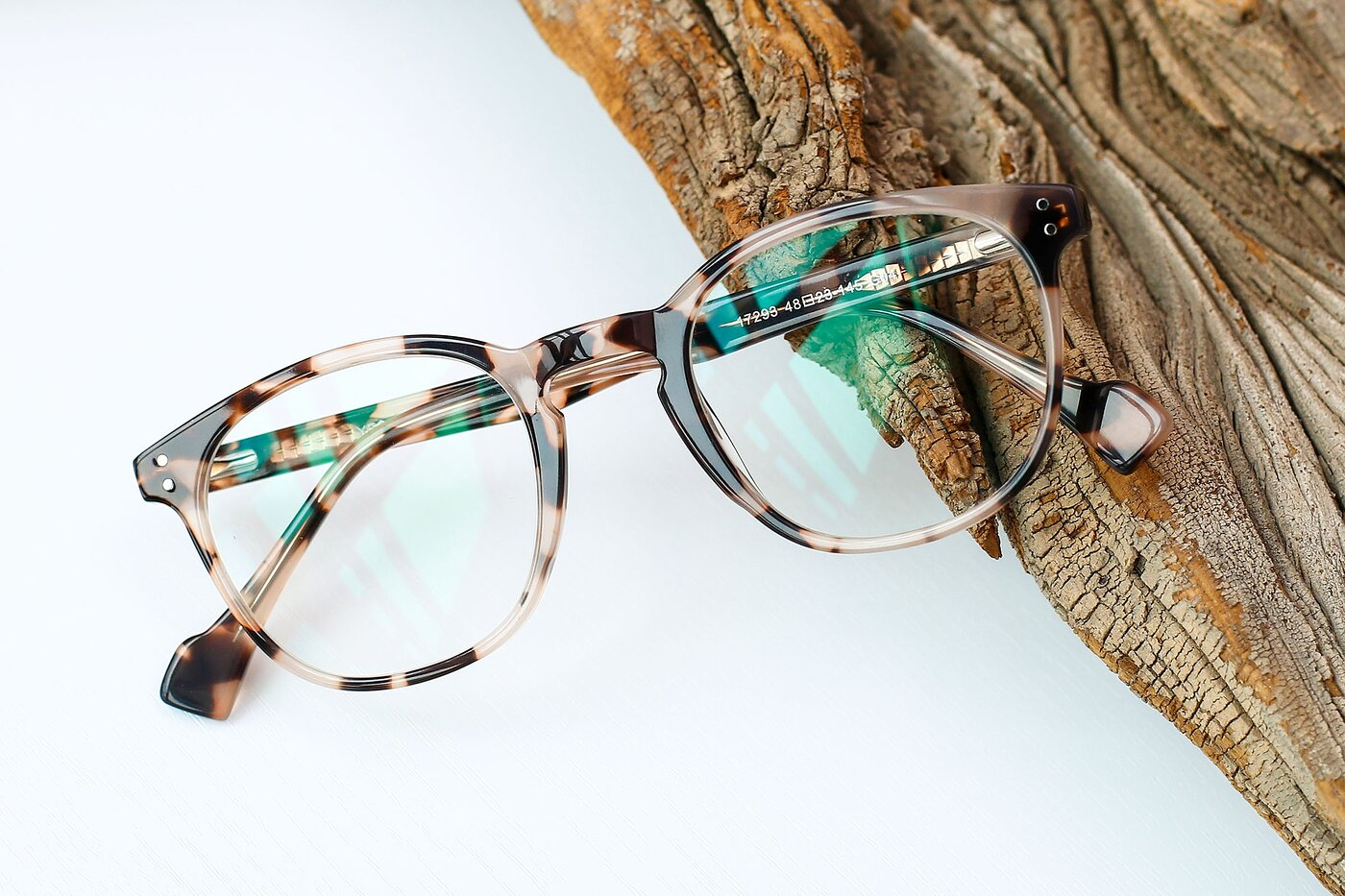 Tortoise Hipster Keyhole Bridge Acetate Eyeglasses
