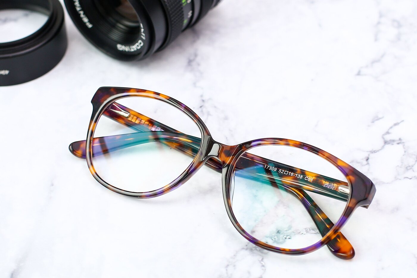 Tortoise Brown Narrow Acetate Butterfly Eyeglasses