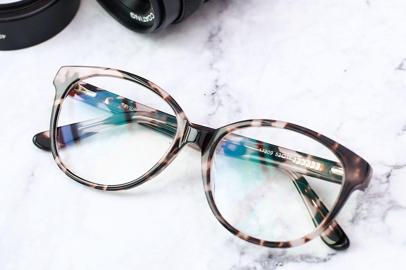Tortoise Honey Narrow Acetate Butterfly Eyeglasses