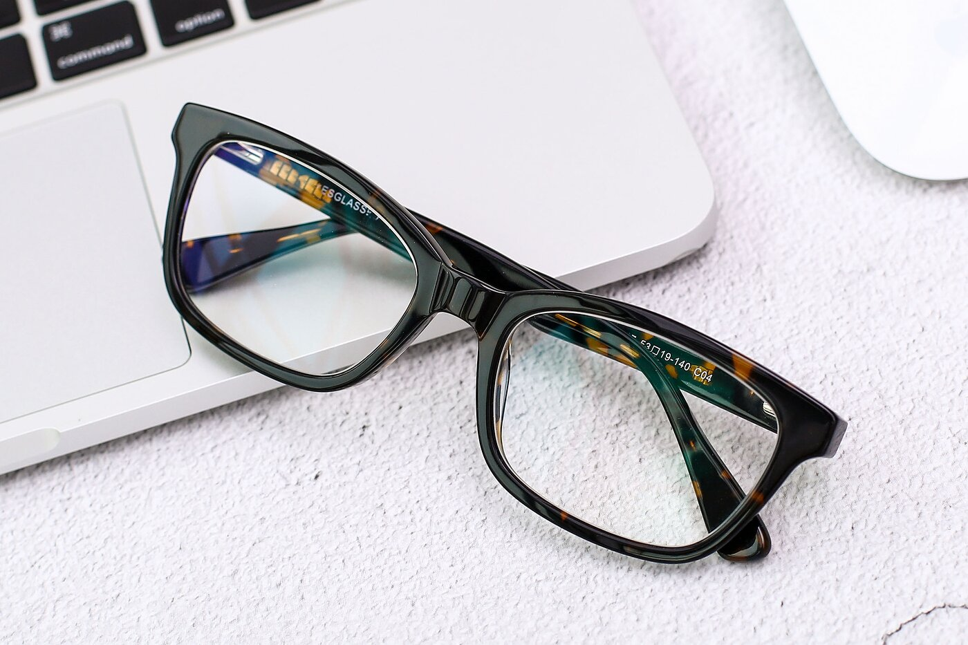 Floral Brown Geek-Chic Acetate Rectangle Eyeglasses