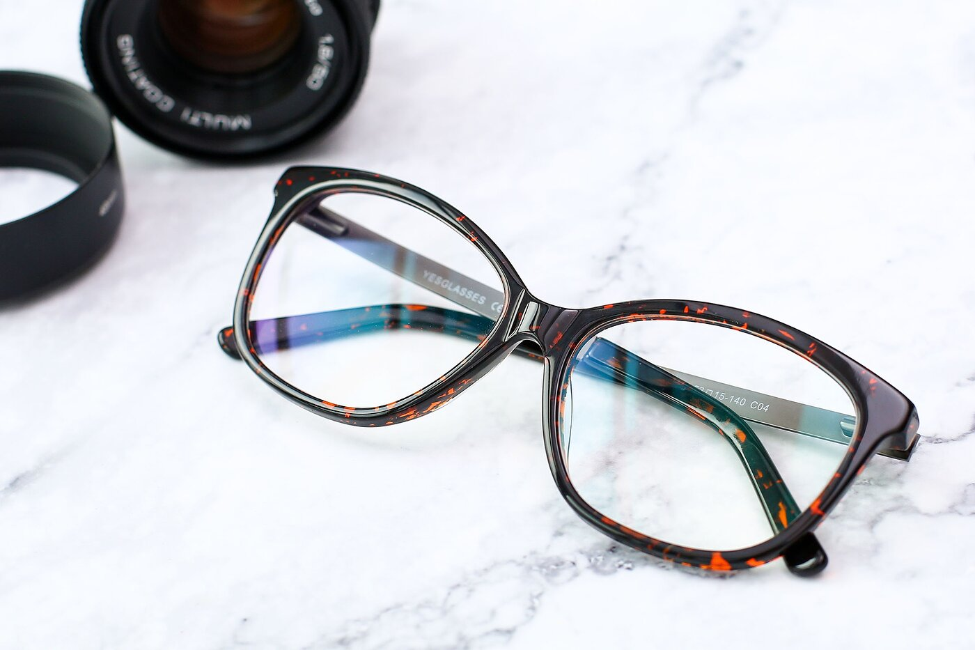 Tortoise Wine Spring Hinges Butterfly Full-Rim Eyeglasses