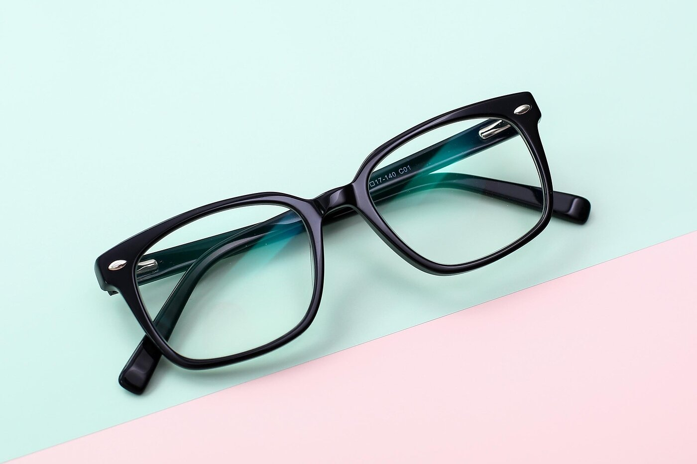 Black Narrow Hipster Square Eyeglasses