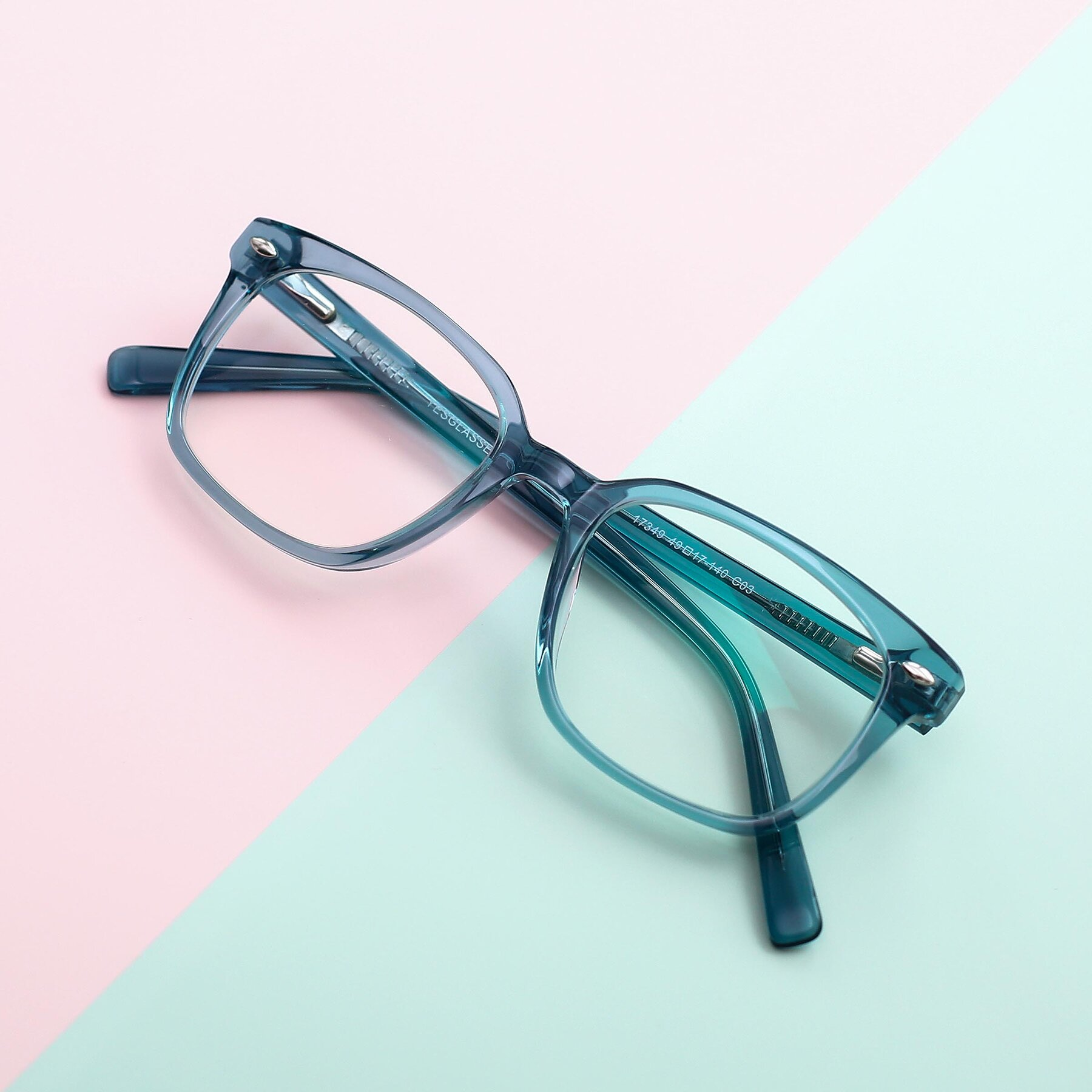 Lifestyle photography #1 of 17349 in Transparent Cyan with Clear Blue Light Blocking Lenses
