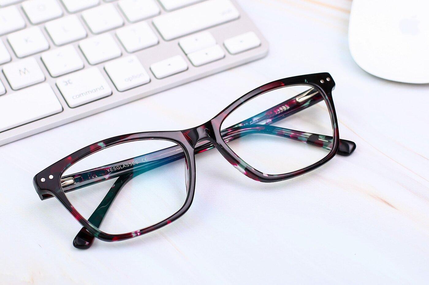 Floral Tortoise Medium Wayfarer Acetate Eyeglasses