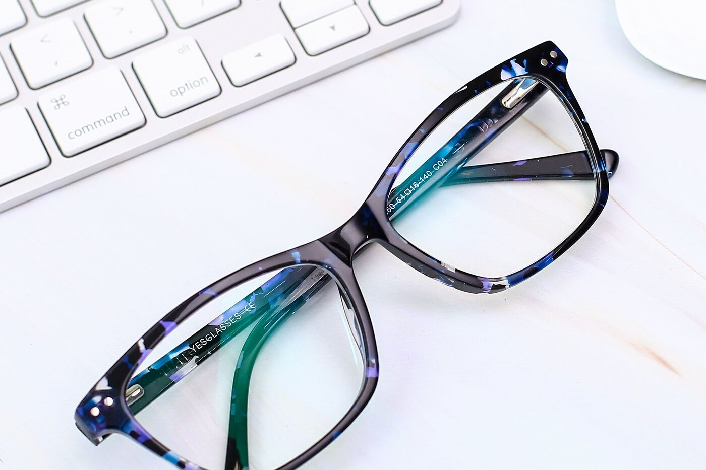 Tortoise Blue Medium Wayfarer Acetate Eyeglasses
