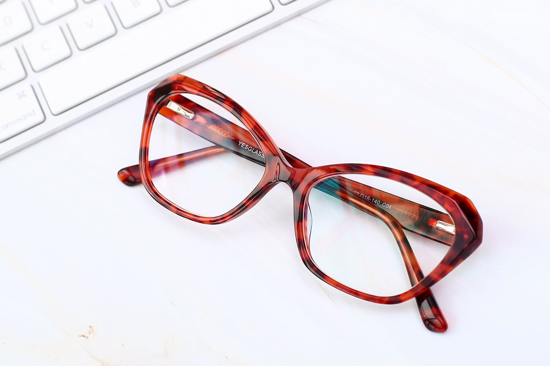 Lifestyle photography #1 of 17351 in Floral Red with Clear Eyeglass Lenses