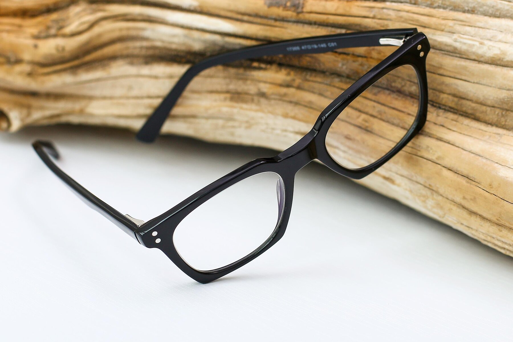 Lifestyle photography #2 of Medhi in Black with Clear Eyeglass Lenses