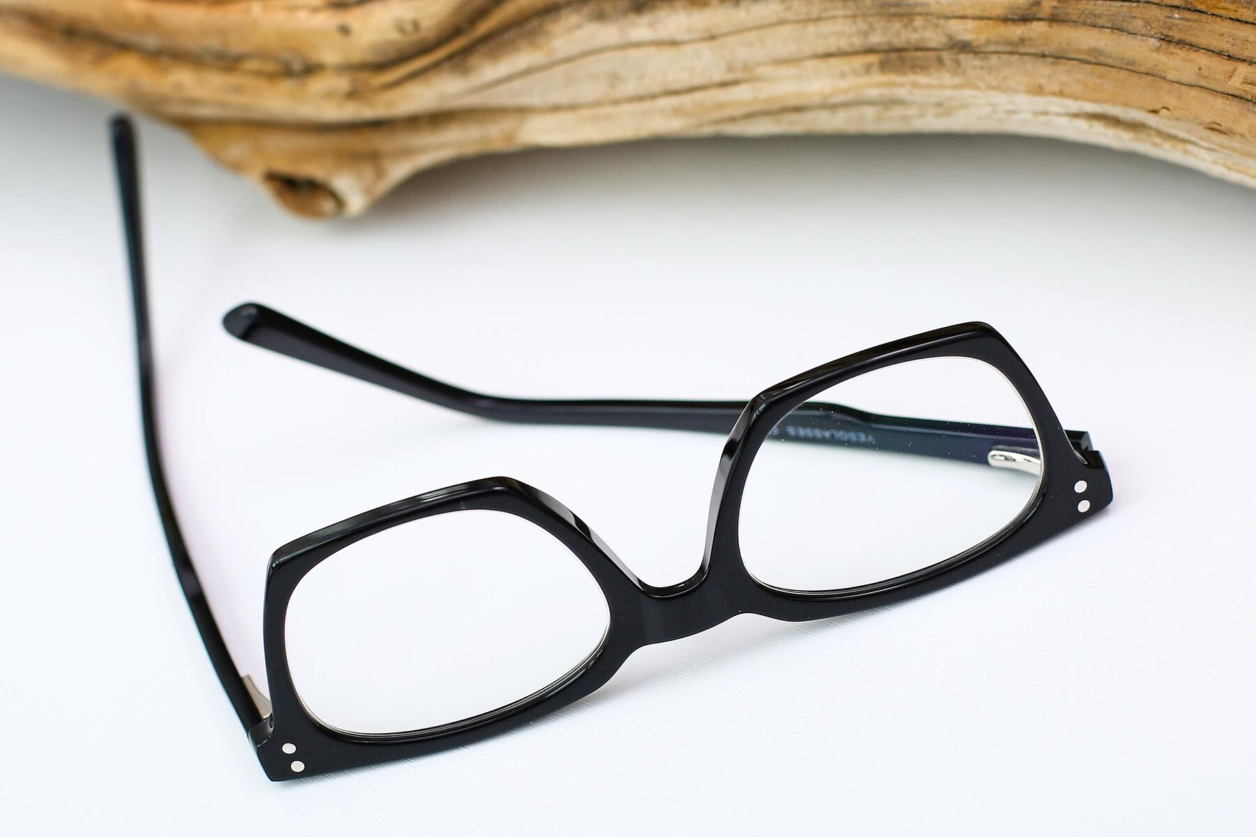 Lifestyle photography #3 of Medhi in Black with Clear Eyeglass Lenses