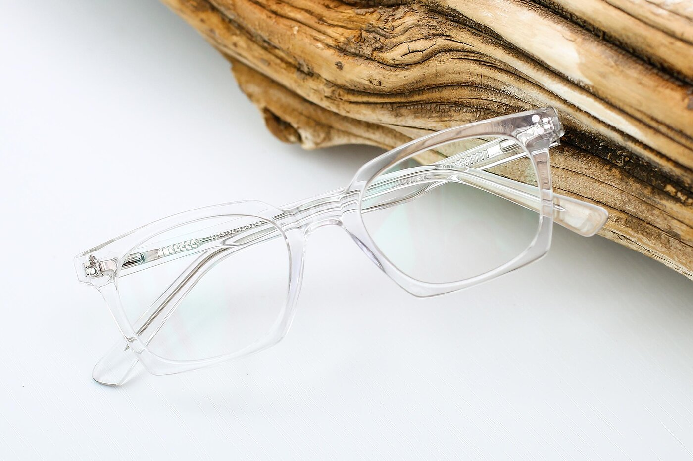 Clear Geek-Chic Square Geometric Eyeglasses