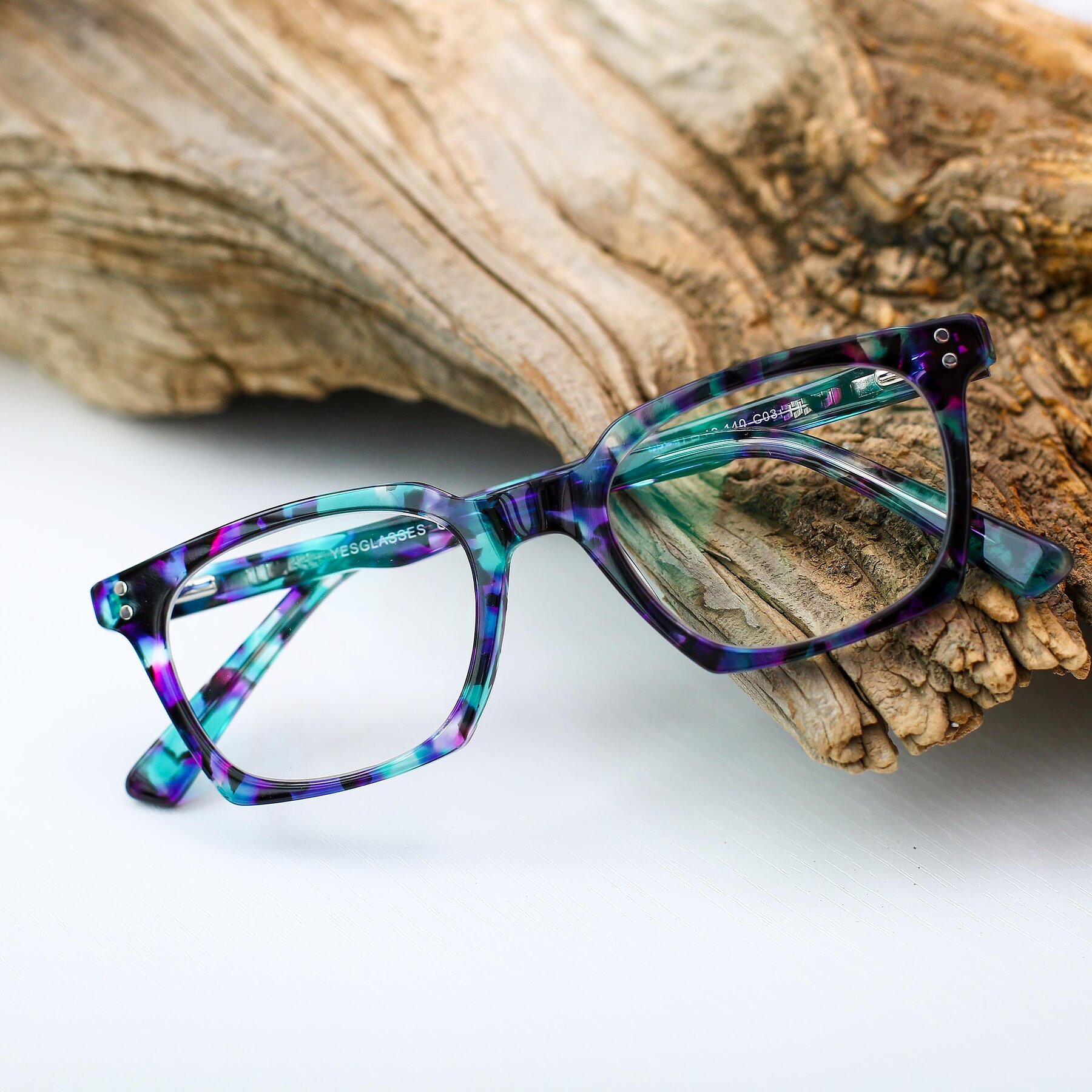 Women's lifestyle photography #1 of 17355 in Floral Blue with Clear Eyeglass Lenses