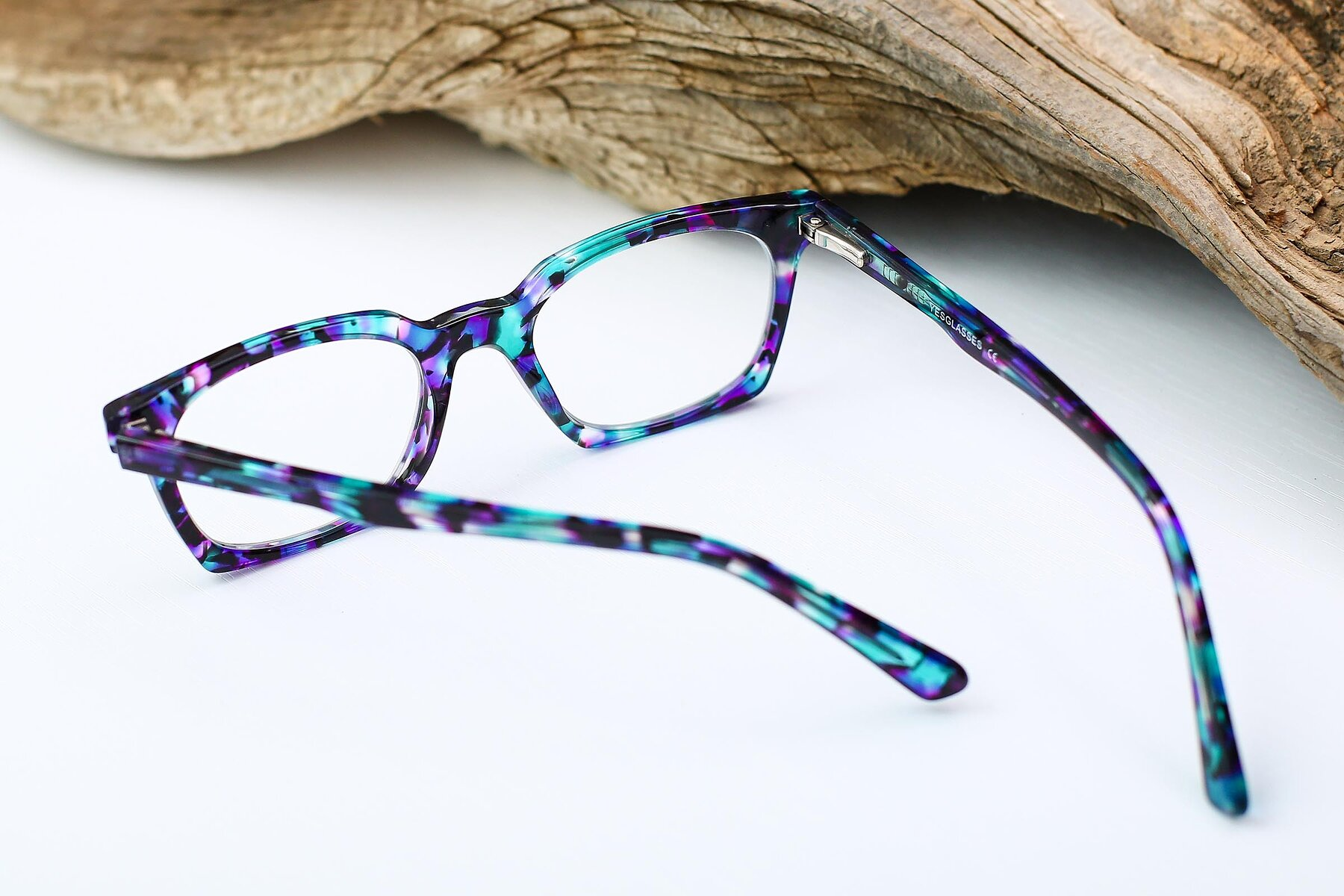 Women's lifestyle photography #3 of 17355 in Floral Blue with Clear Eyeglass Lenses