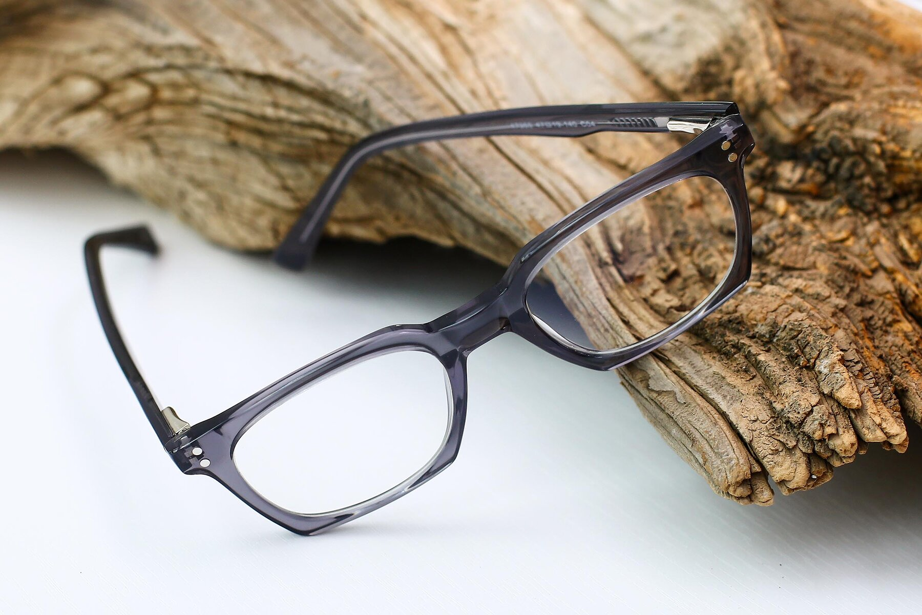 Lifestyle photography #2 of 17355 in Transparent Gray with Clear Eyeglass Lenses