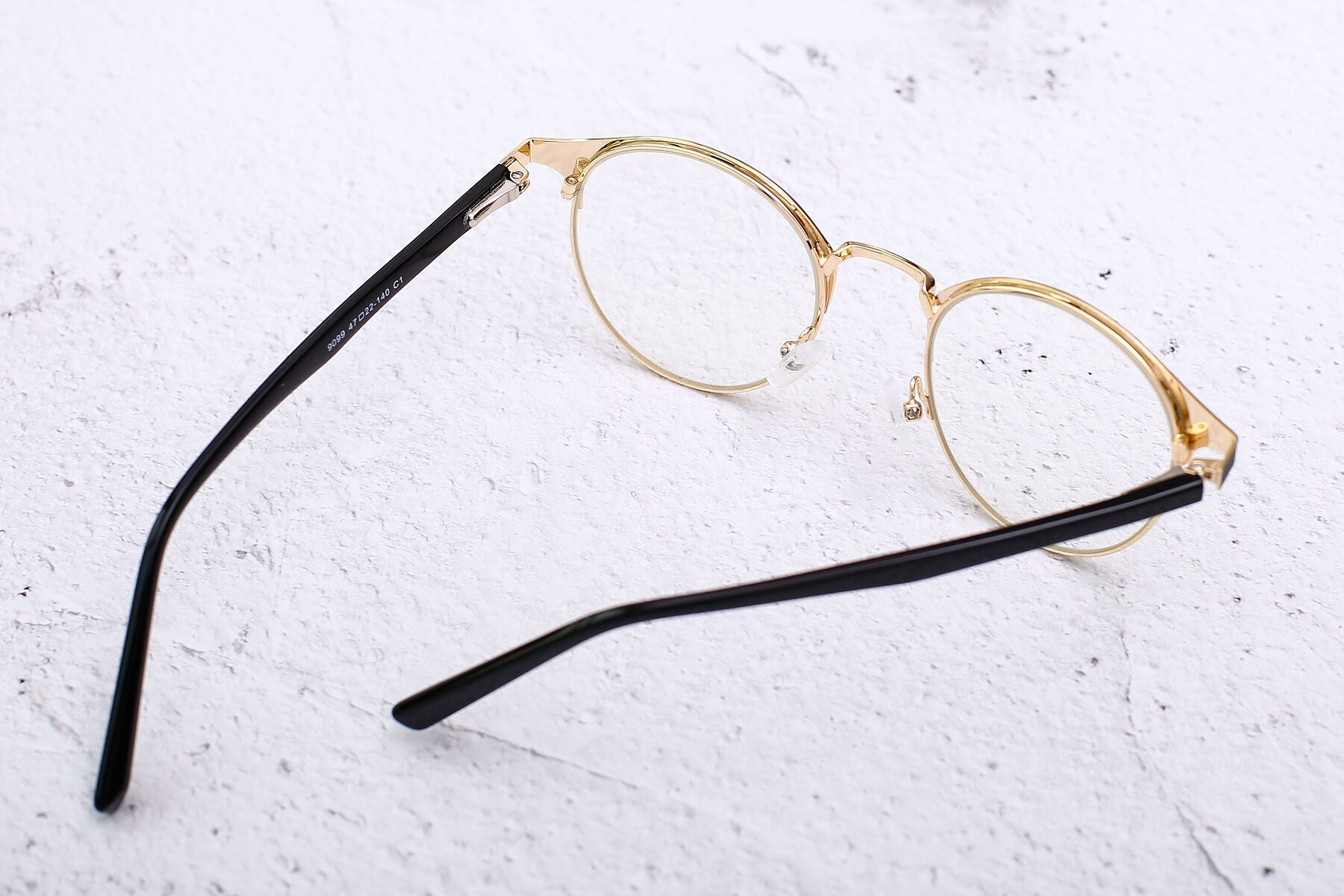 Lifestyle photography #3 of 9099 in Black-Gold with Clear Eyeglass Lenses