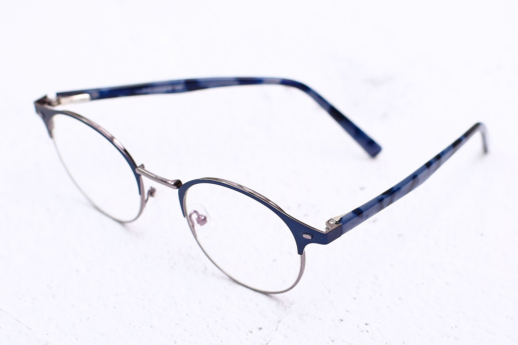 Lifestyle photography #2 of 9099 in Blue-Gunmetal with Clear Eyeglass Lenses