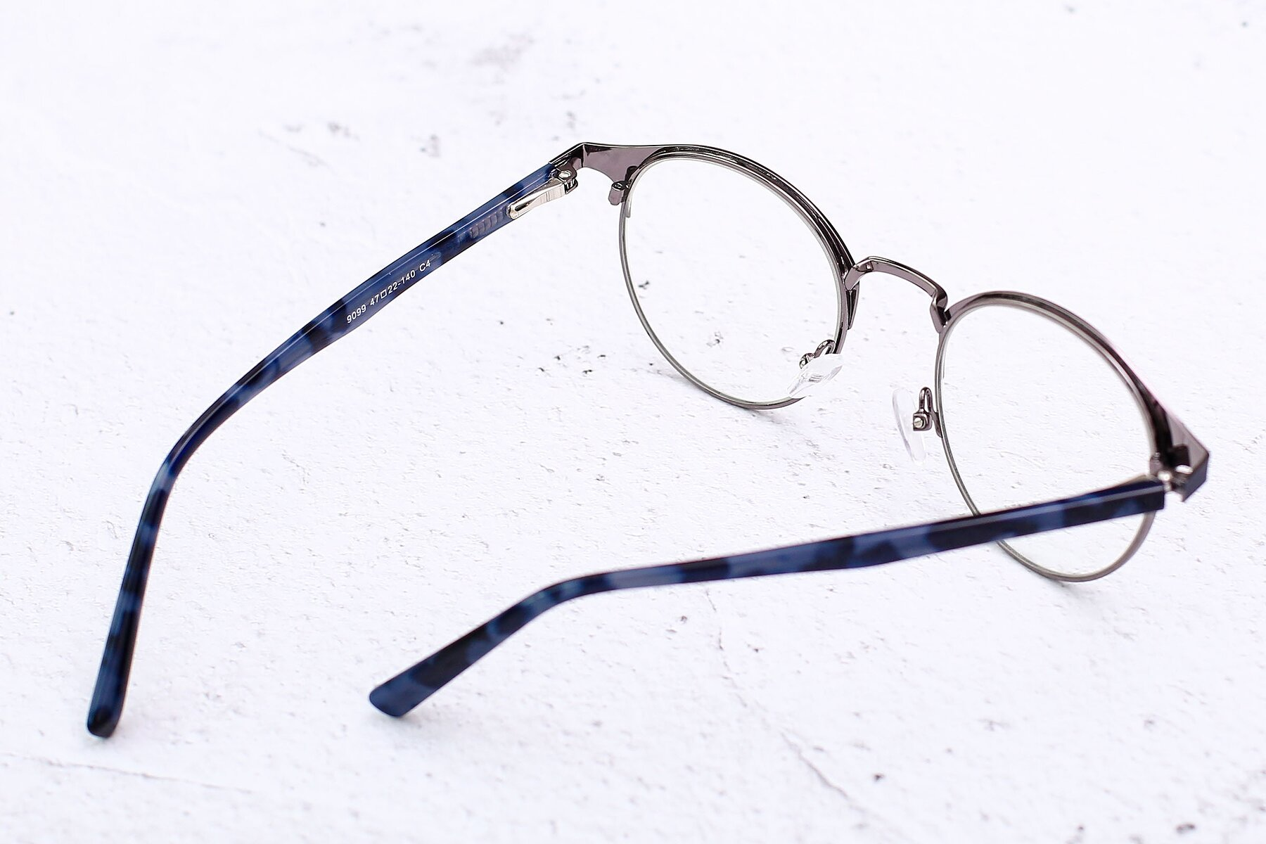 Lifestyle photography #3 of 9099 in Blue-Gunmetal with Clear Eyeglass Lenses