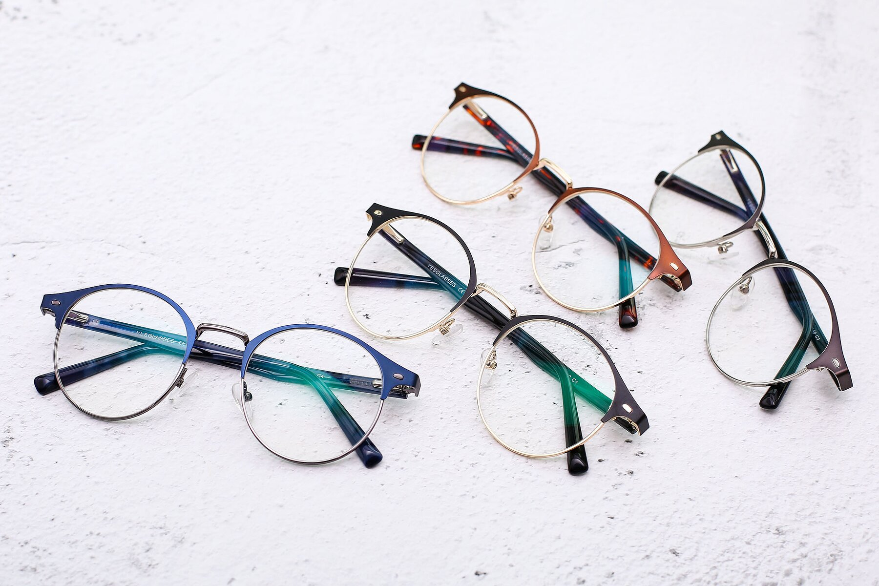 Lifestyle photography #4 of 9099 in Blue-Gunmetal with Clear Eyeglass Lenses
