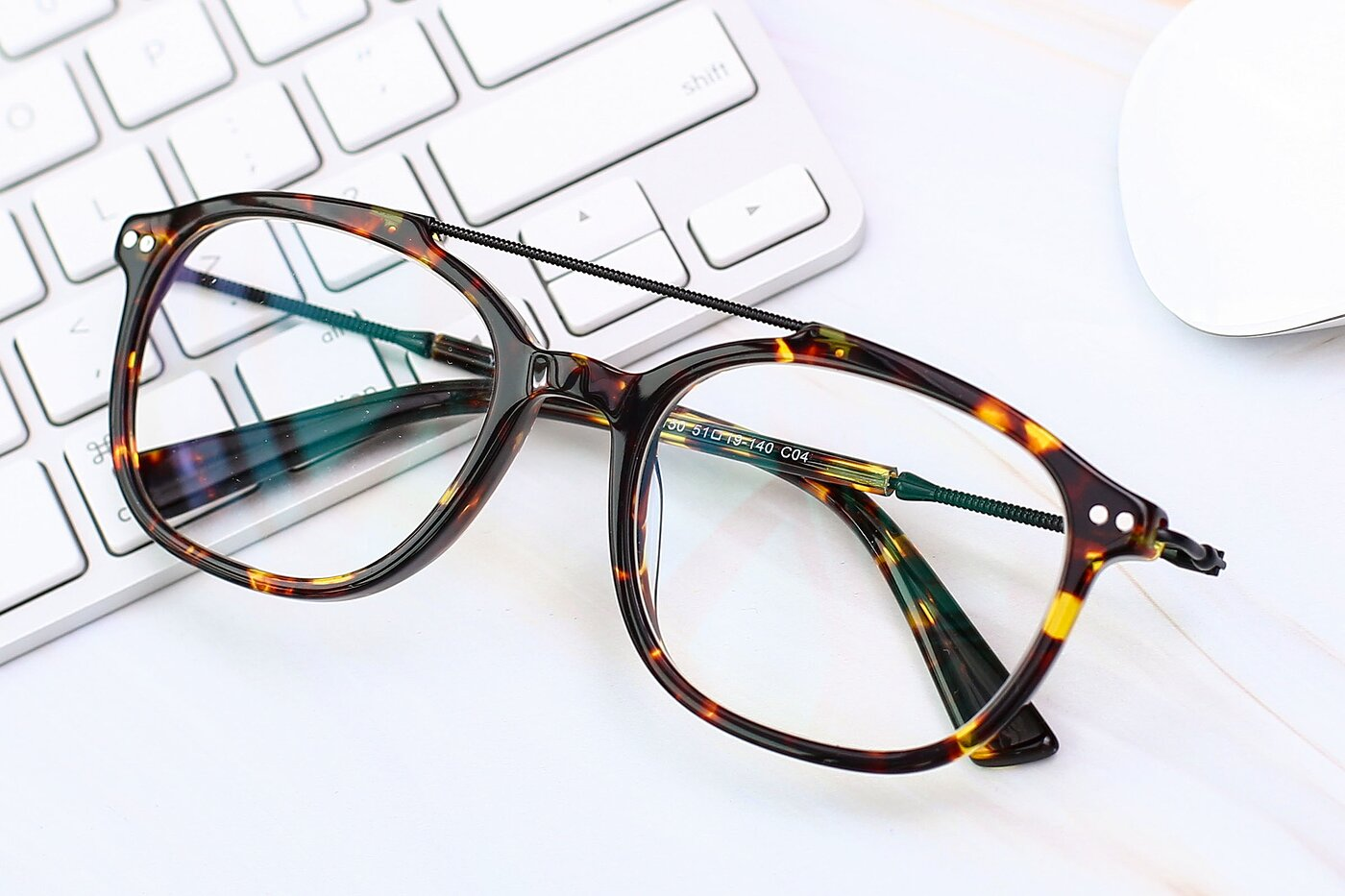 Tortoise Brown Grandpa Double Bridge Square Eyeglasses