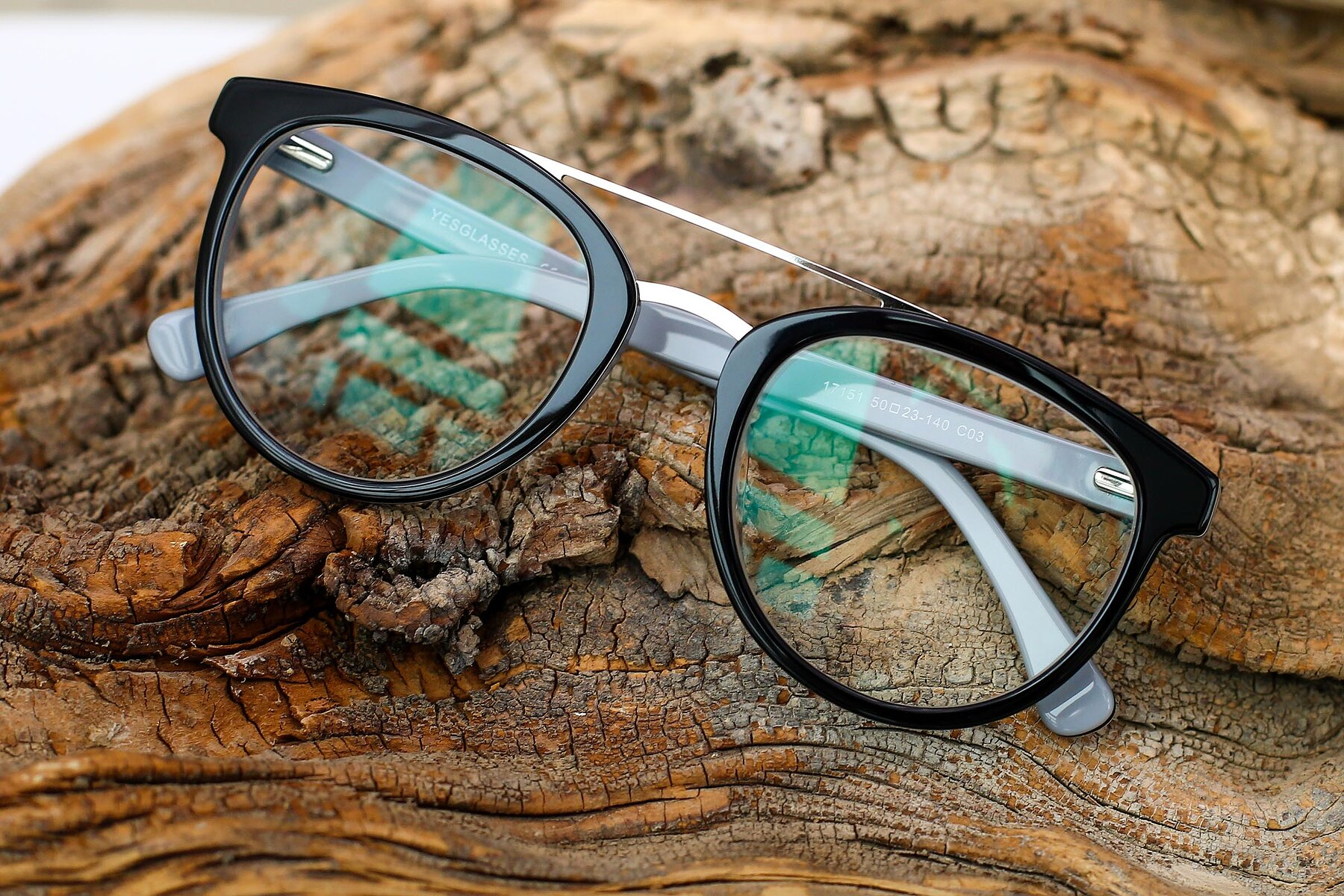 Lifestyle photography #1 of 17151 in Black-Silver with Clear Eyeglass Lenses