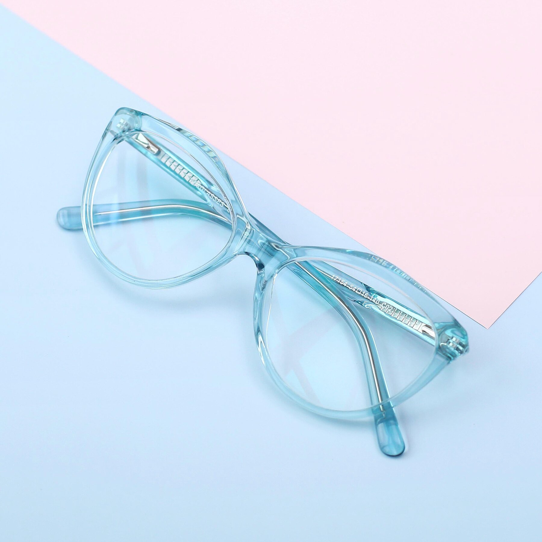 Women's lifestyle photography #1 of 17154 in Transparent Green with Clear Eyeglass Lenses