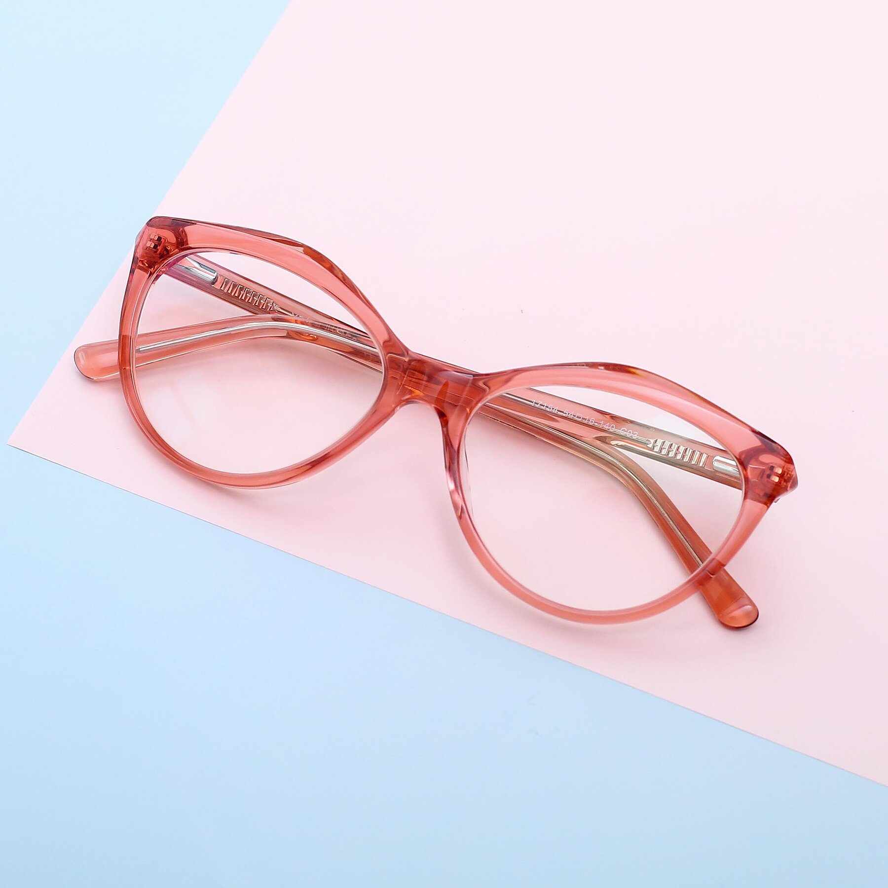 Women's lifestyle photography #1 of 17154 in Transparent Red with Clear Eyeglass Lenses