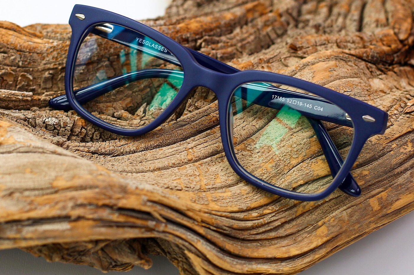 Deep Blue Geek-Chic Square Full-Rim Eyeglasses