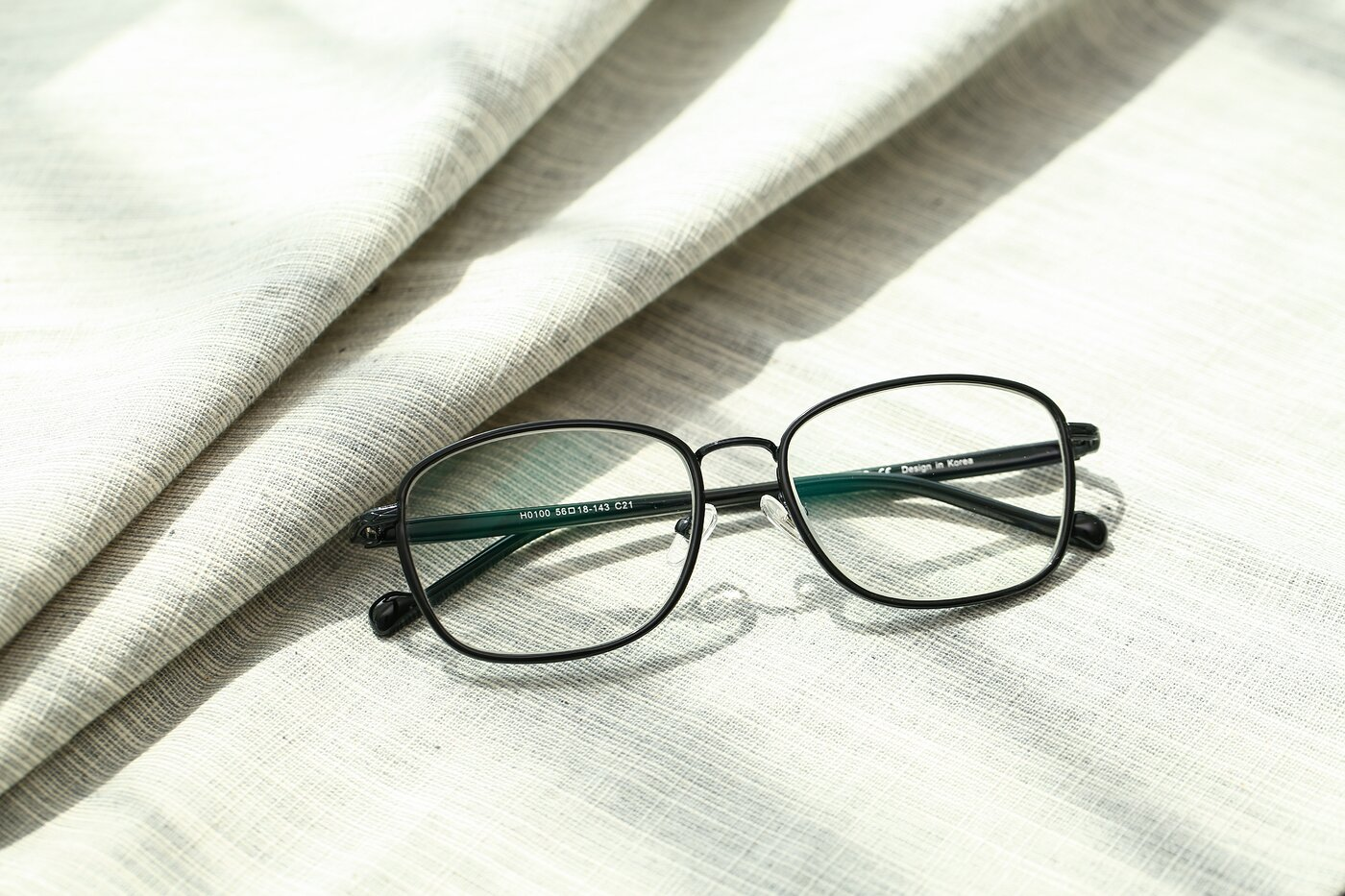 Black Grandpa Low Bridge Fit Square Eyeglasses