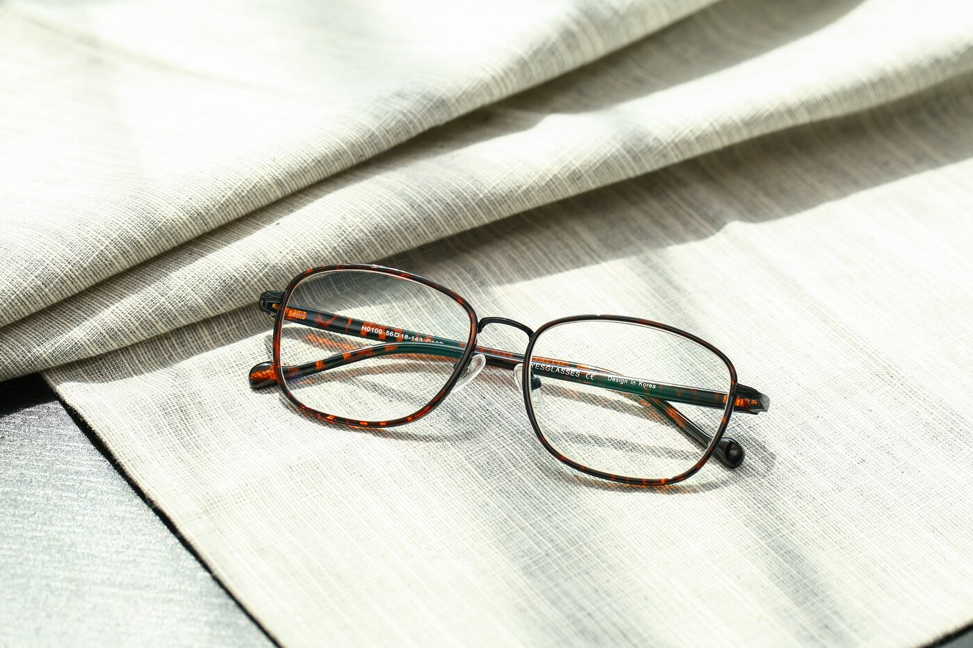Tortoise Grandpa Low Bridge Fit Square Eyeglasses