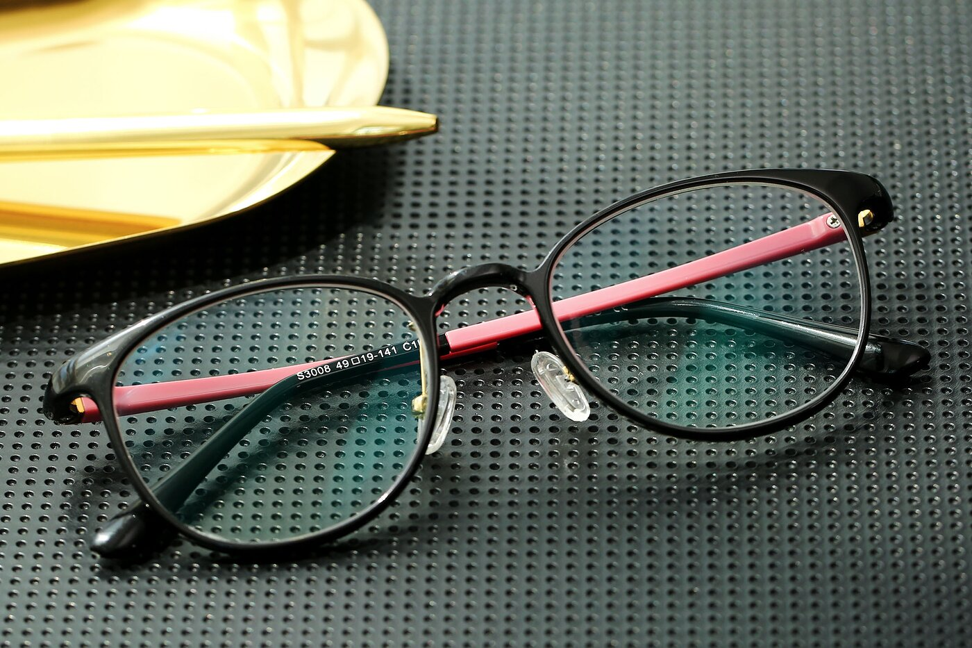Black-Pink Thin Lightweight Ultem Eyeglasses