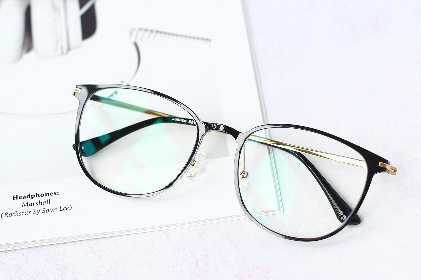 Black Lightweight Ultem Square Eyeglasses