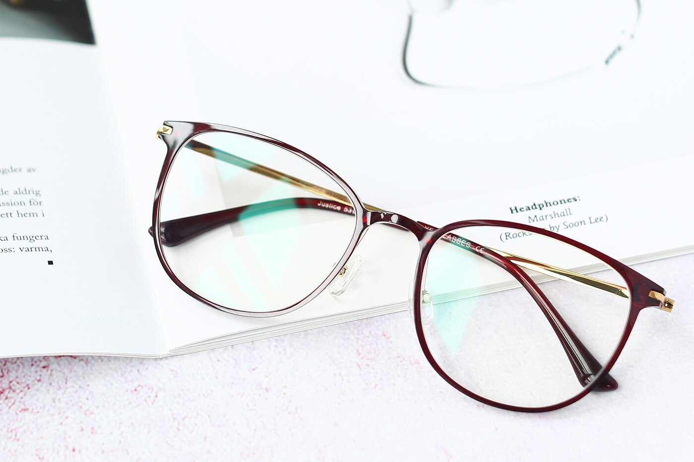 Wine Lightweight Ultem Square Eyeglasses