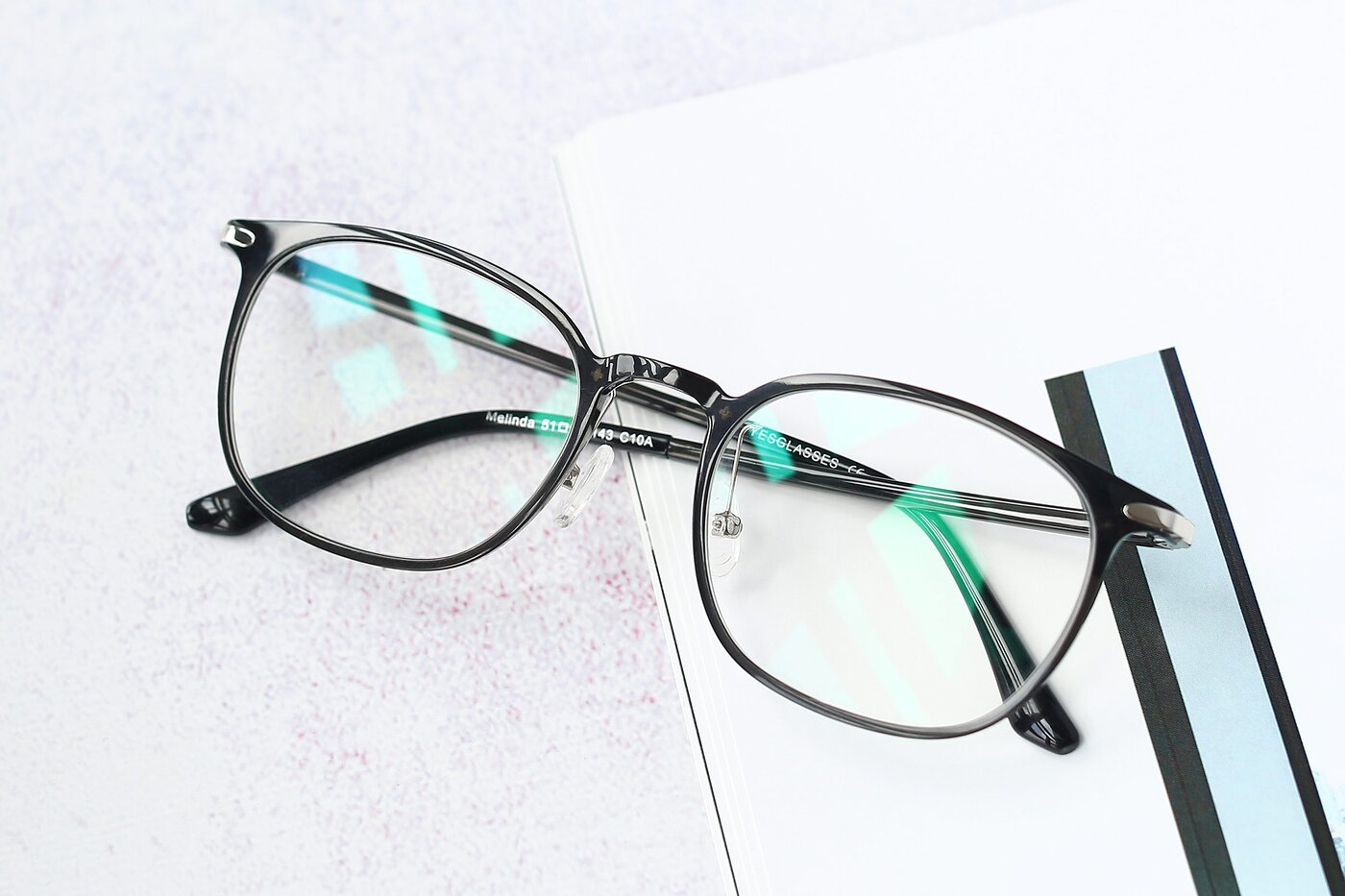 Transparent Gray Hipster Lightweight Ultem Eyeglasses