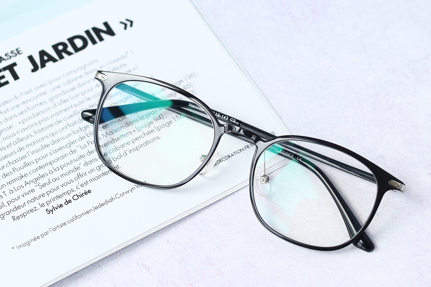 Black Hipster Lightweight Ultem Eyeglasses