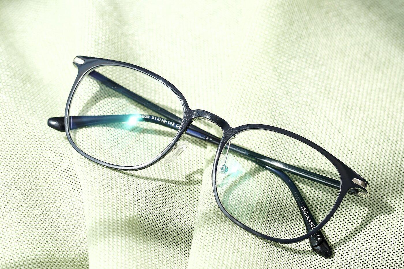 Dark Blue Hipster Lightweight Ultem Eyeglasses