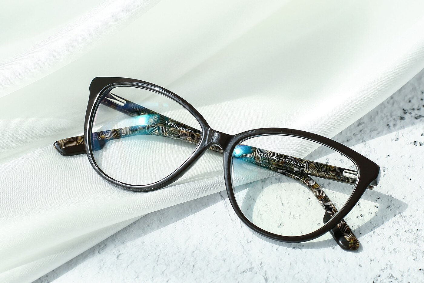 Coffee Retro-Vintage Acetate Cat-Eye Eyeglasses