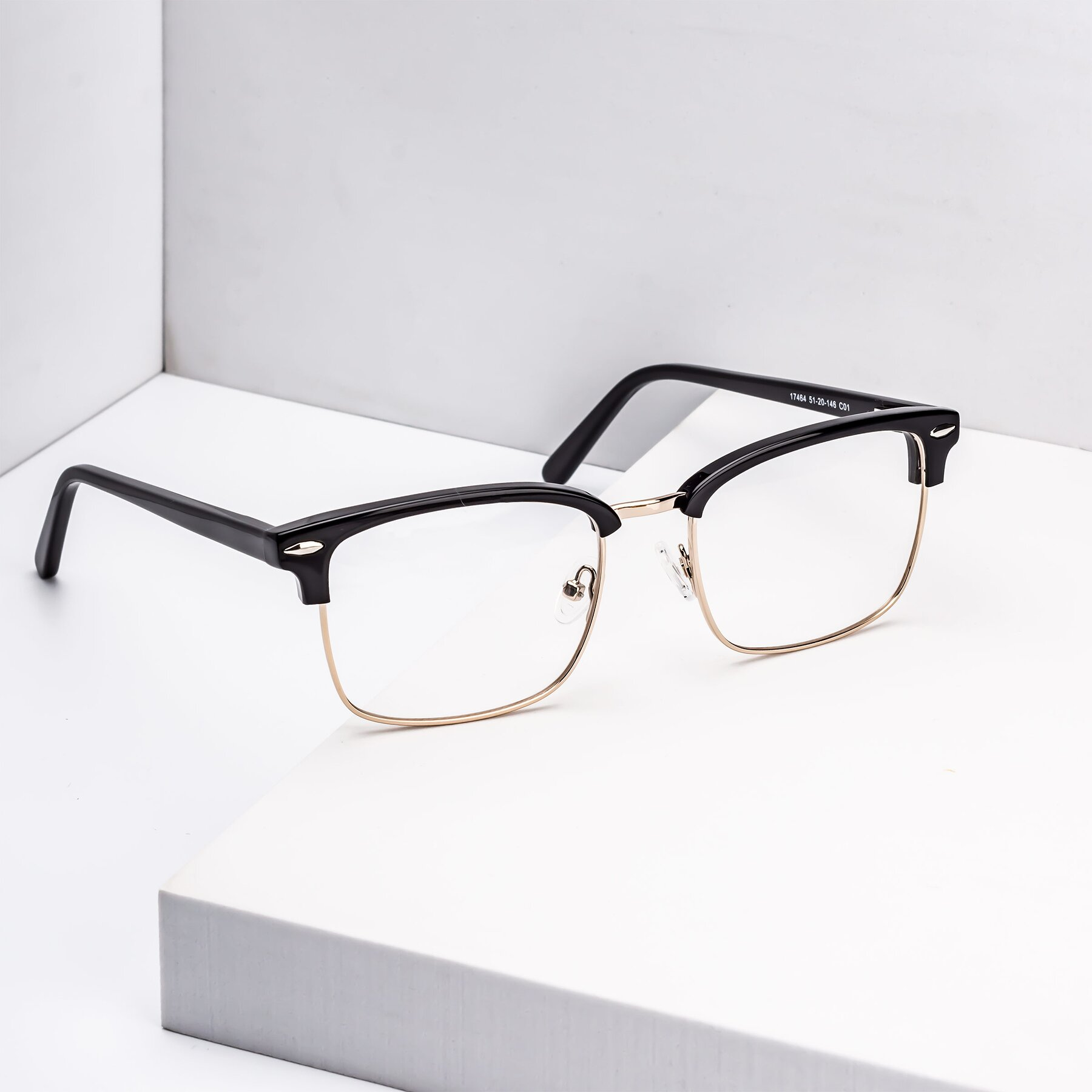 Lifestyle photography #1 of 17464 in Black-Gold with Clear Eyeglass Lenses