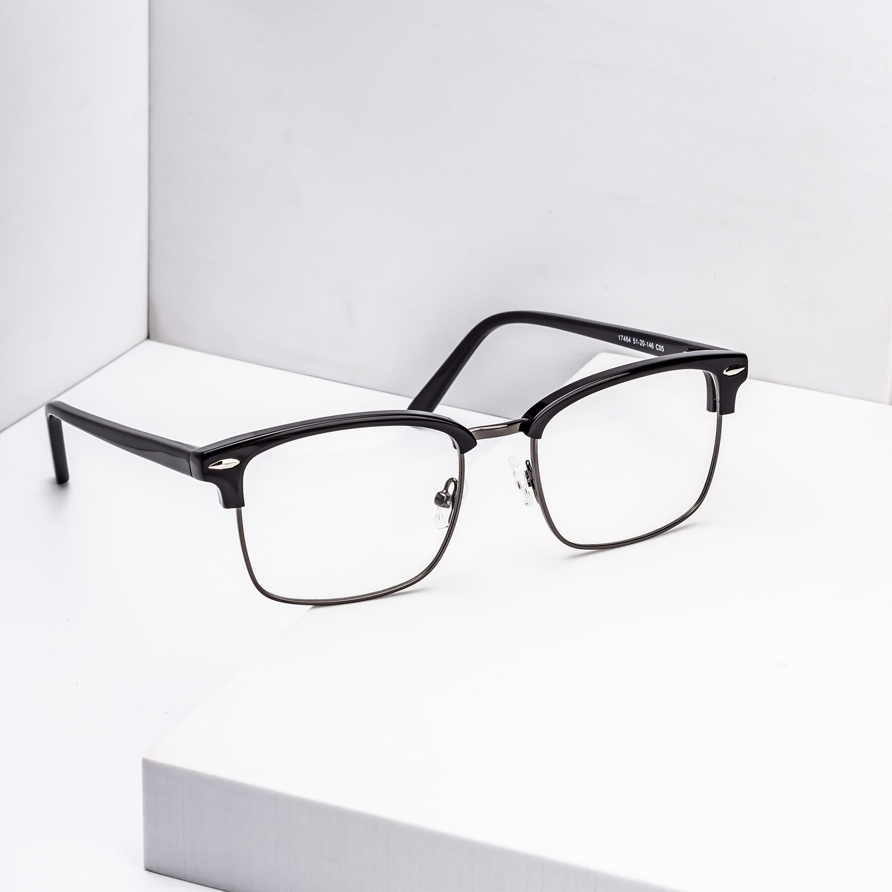 Men's lifestyle photography #1 of 17464 in Black-Gunmetal with Clear Blue Light Blocking Lenses