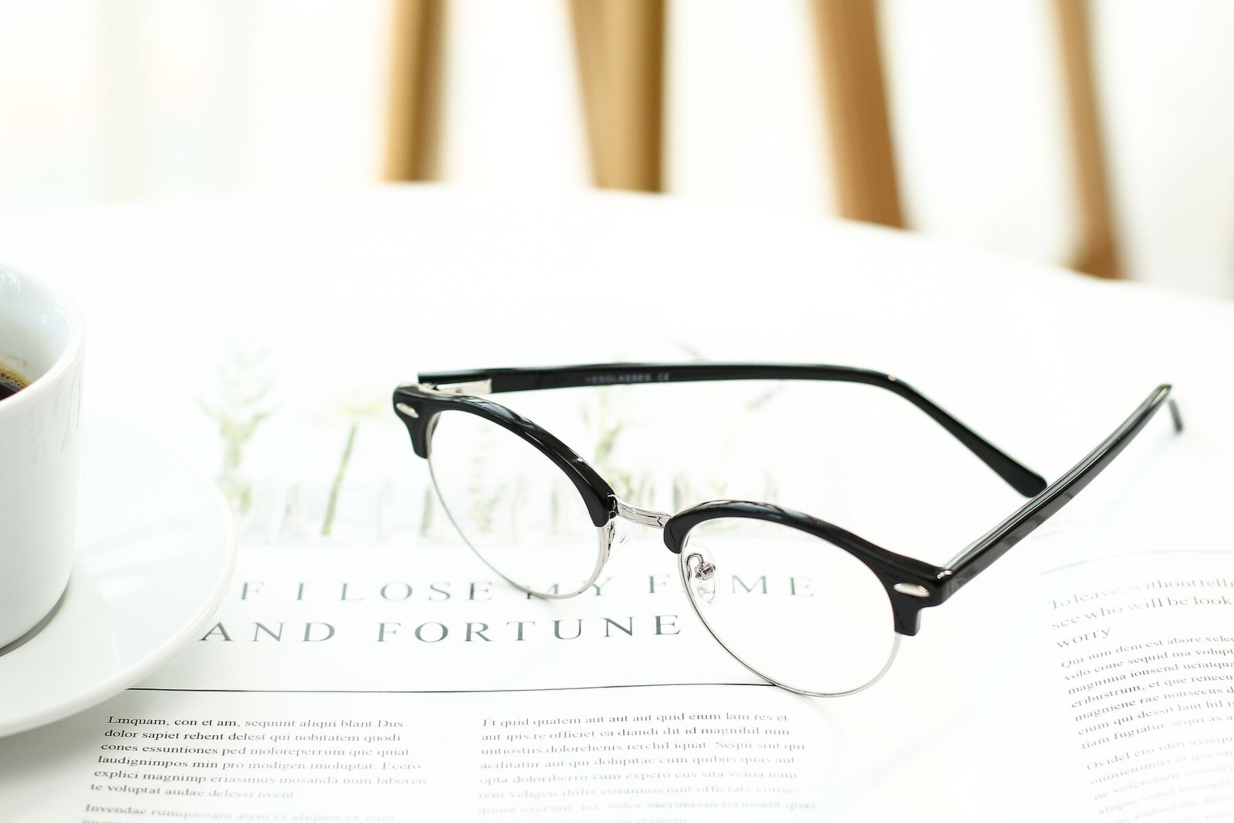 Lifestyle photography #2 of 17462 in Black-Silver with Clear Eyeglass Lenses