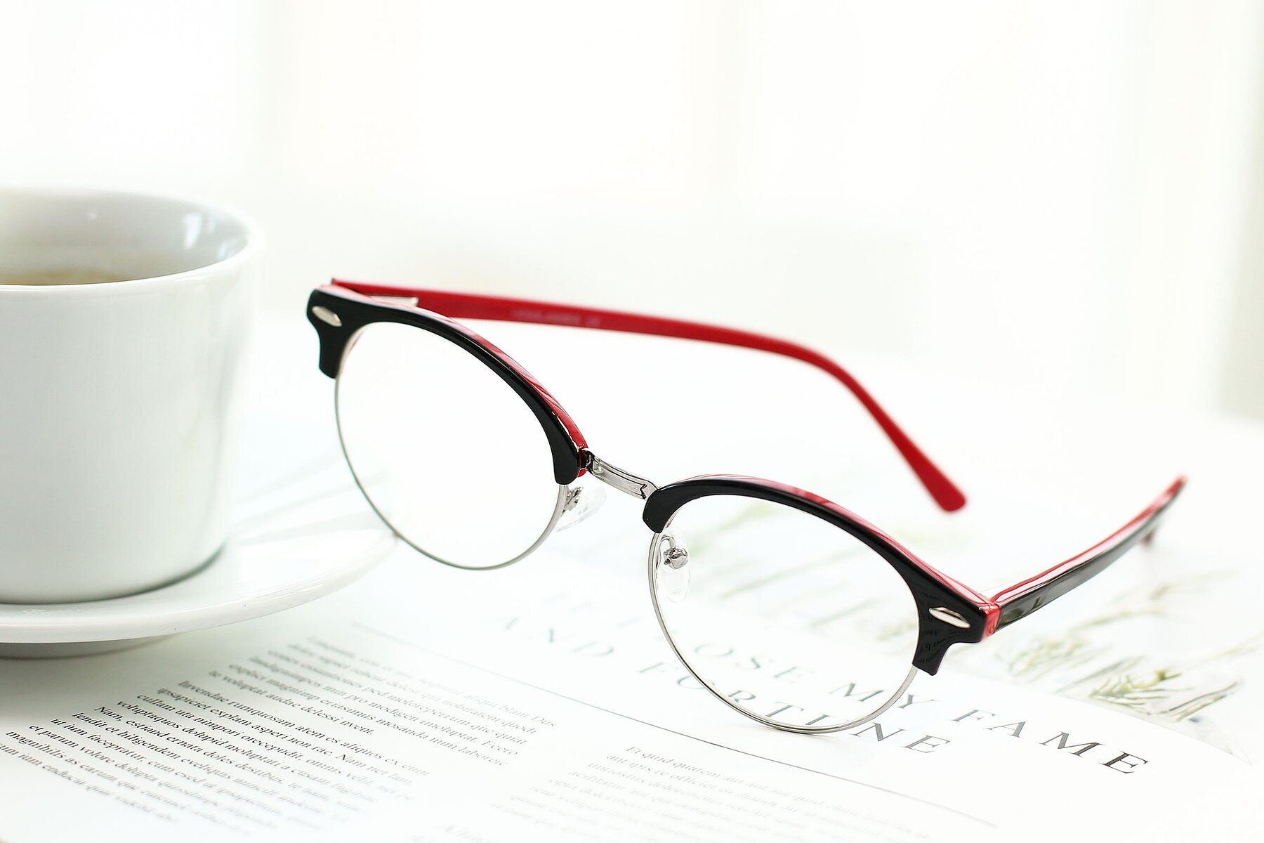 Lifestyle photography #2 of 17462 in Black-Wine with Clear Eyeglass Lenses