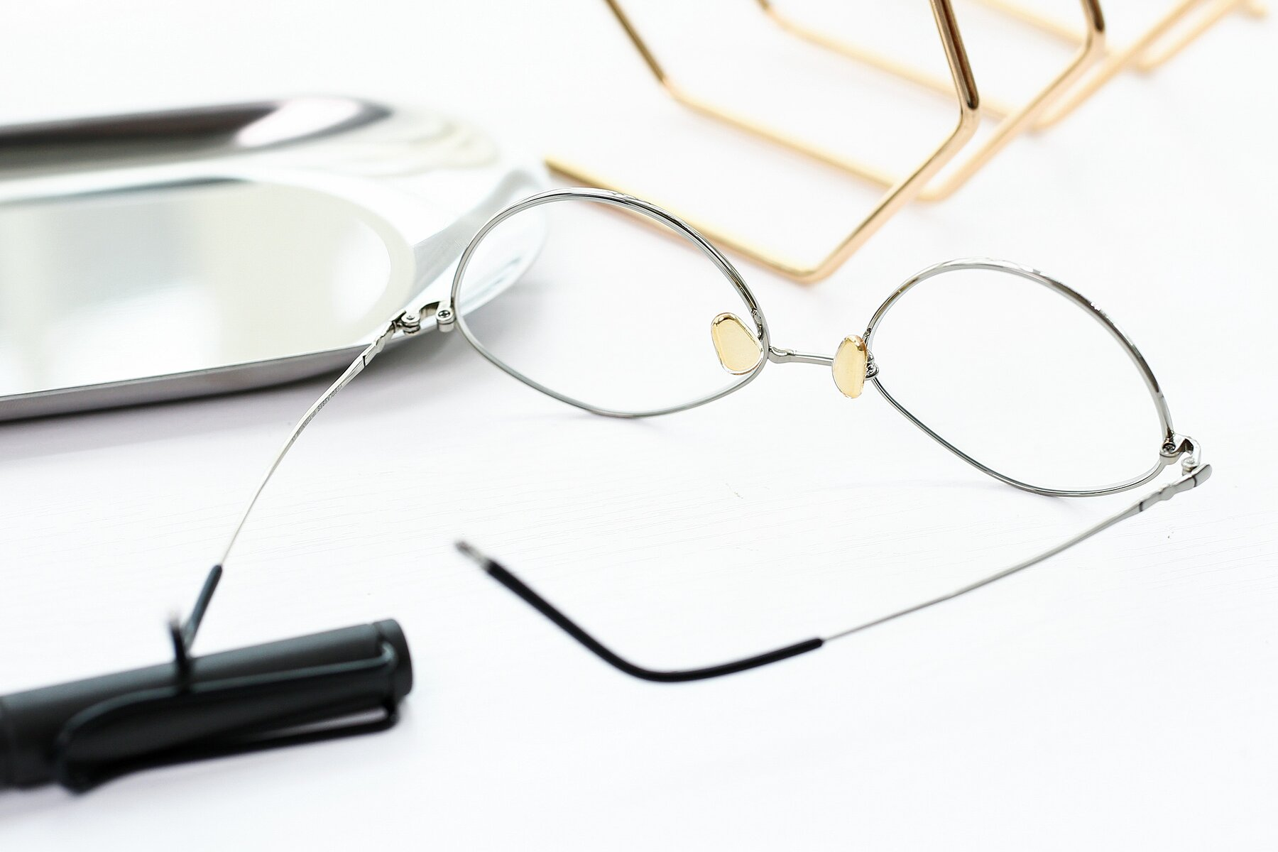 Lifestyle photography #2 of 90029 in Black-Silver with Clear Eyeglass Lenses