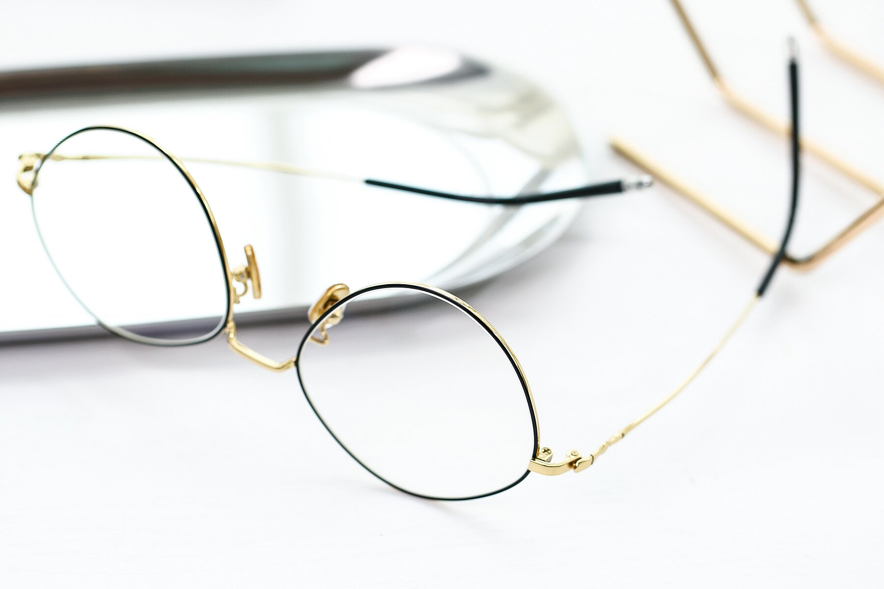 Lifestyle photography #2 of 90029 in Black-Gold with Clear Eyeglass Lenses