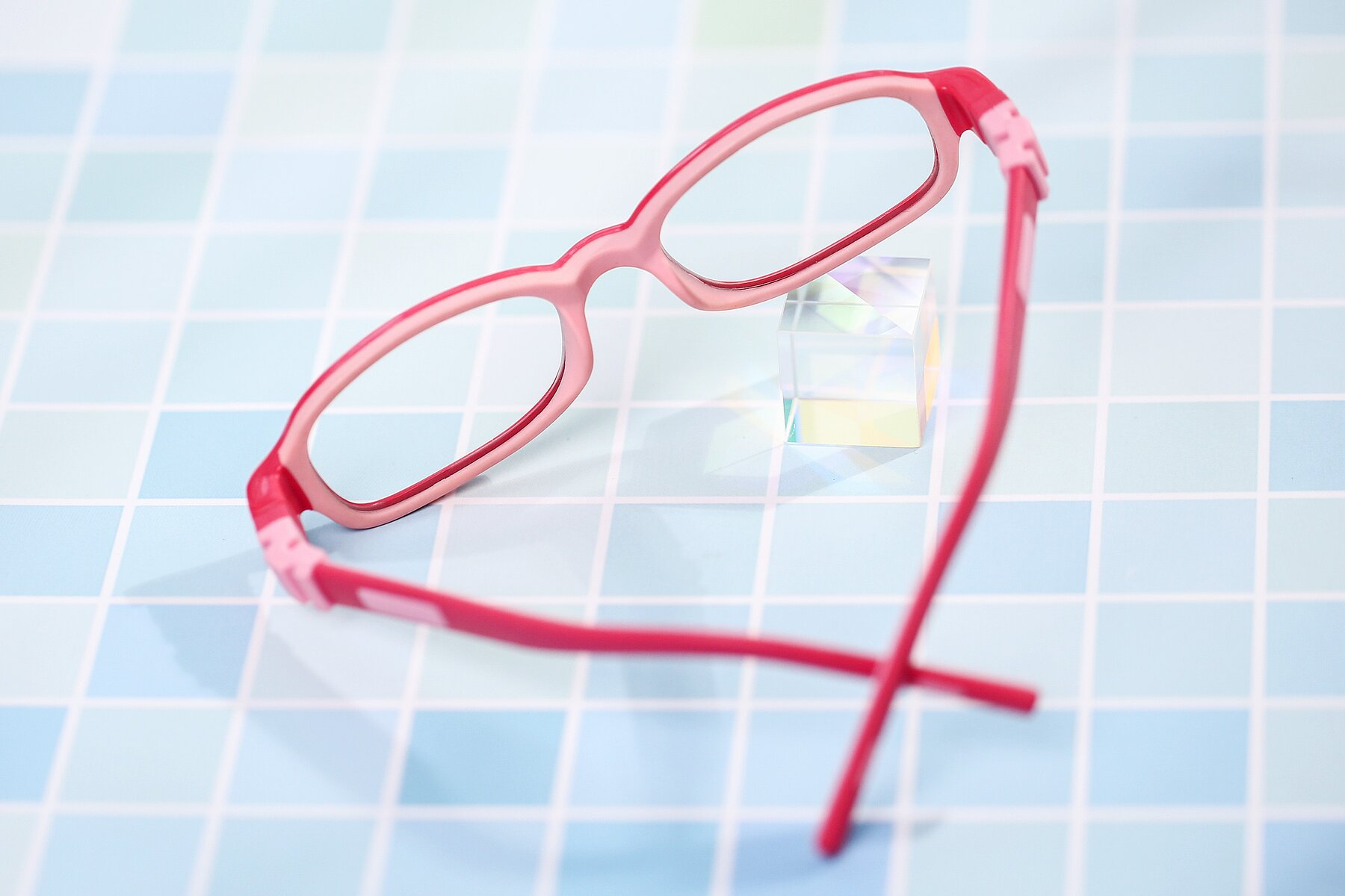 Lifestyle photography #2 of 515 in Red-Pink with Clear Blue Light Blocking Lenses