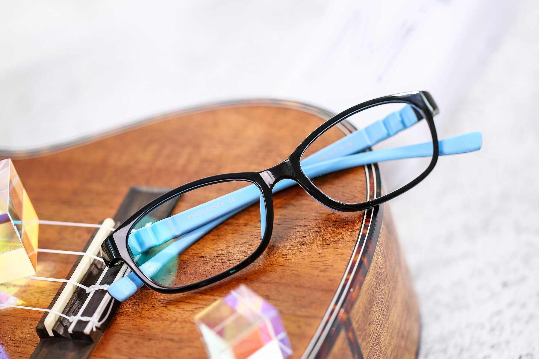 Lifestyle photography #1 of 556 in Black-Sky Blue with Clear Eyeglass Lenses