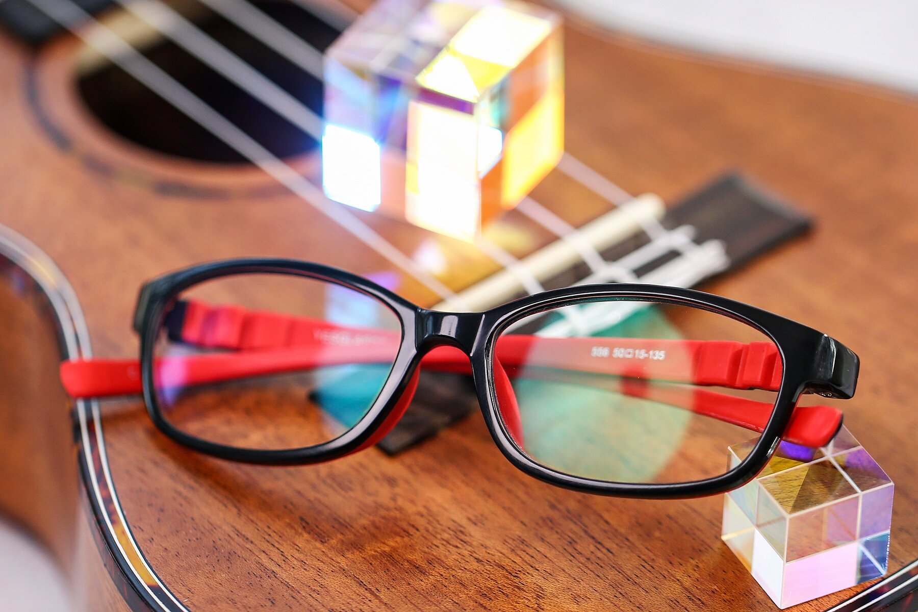Lifestyle photography #1 of 556 in Black-Red with Clear Blue Light Blocking Lenses