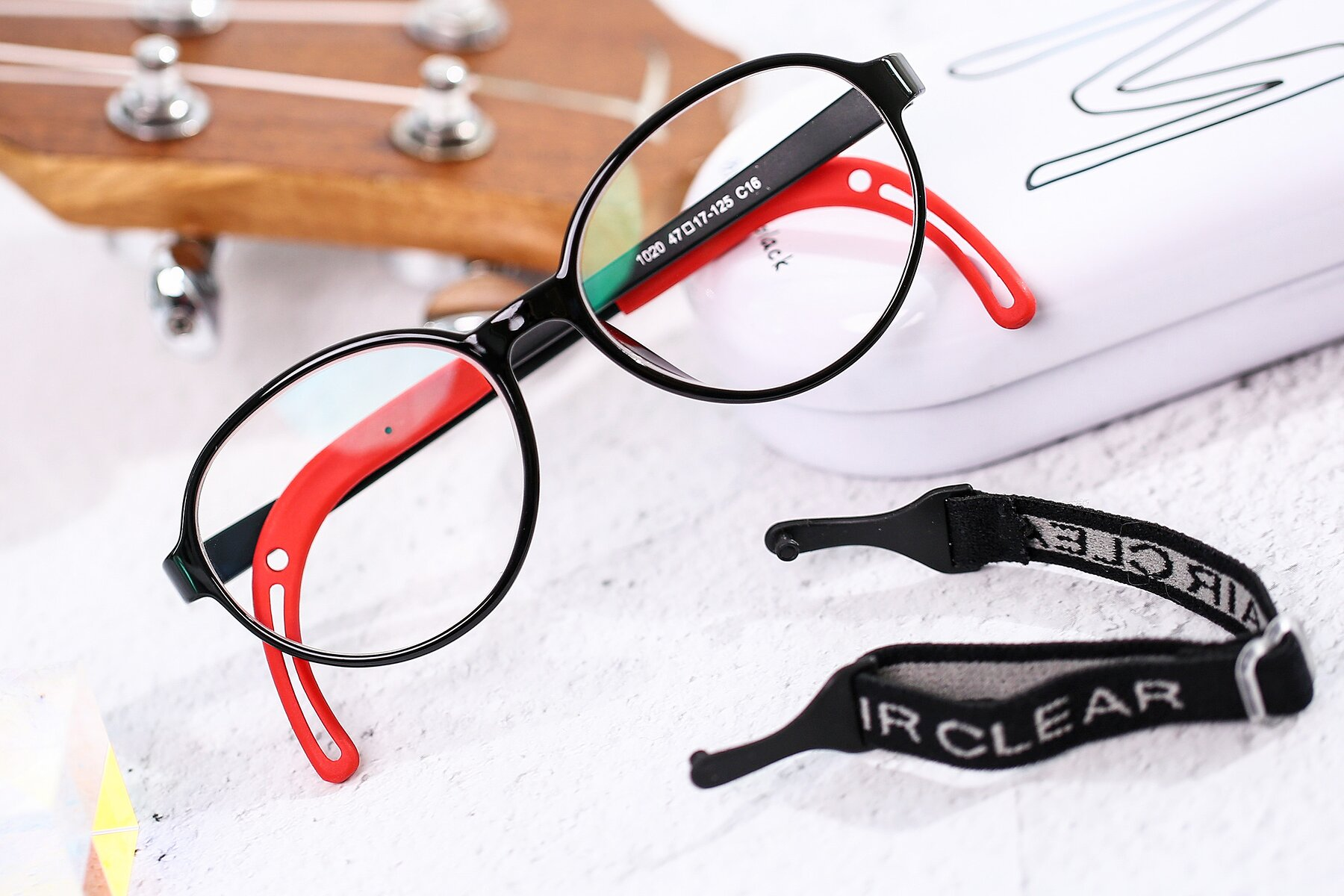 Lifestyle photography #1 of 1020 in Black-Red with Clear Blue Light Blocking Lenses