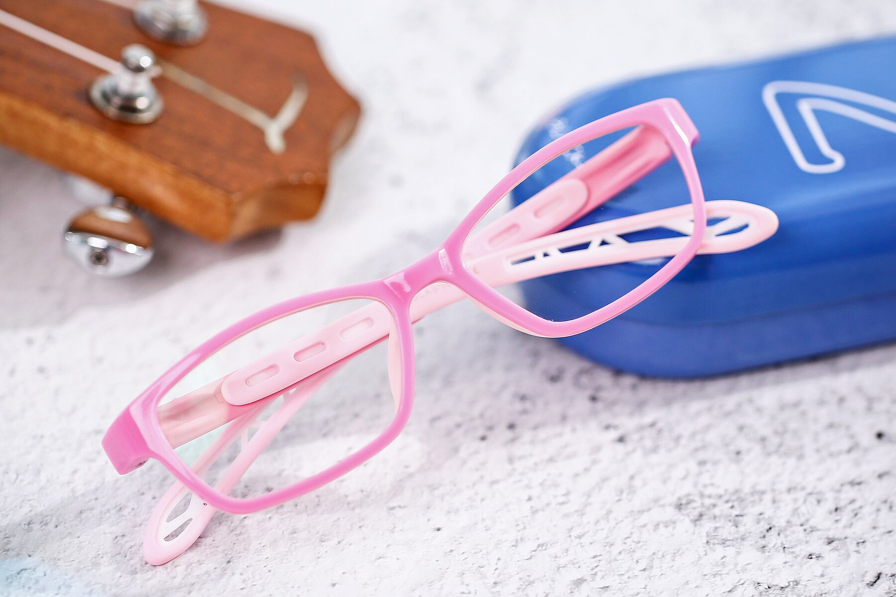 Women's lifestyle photography #1 of 1075 in Pink with Clear Blue Light Blocking Lenses