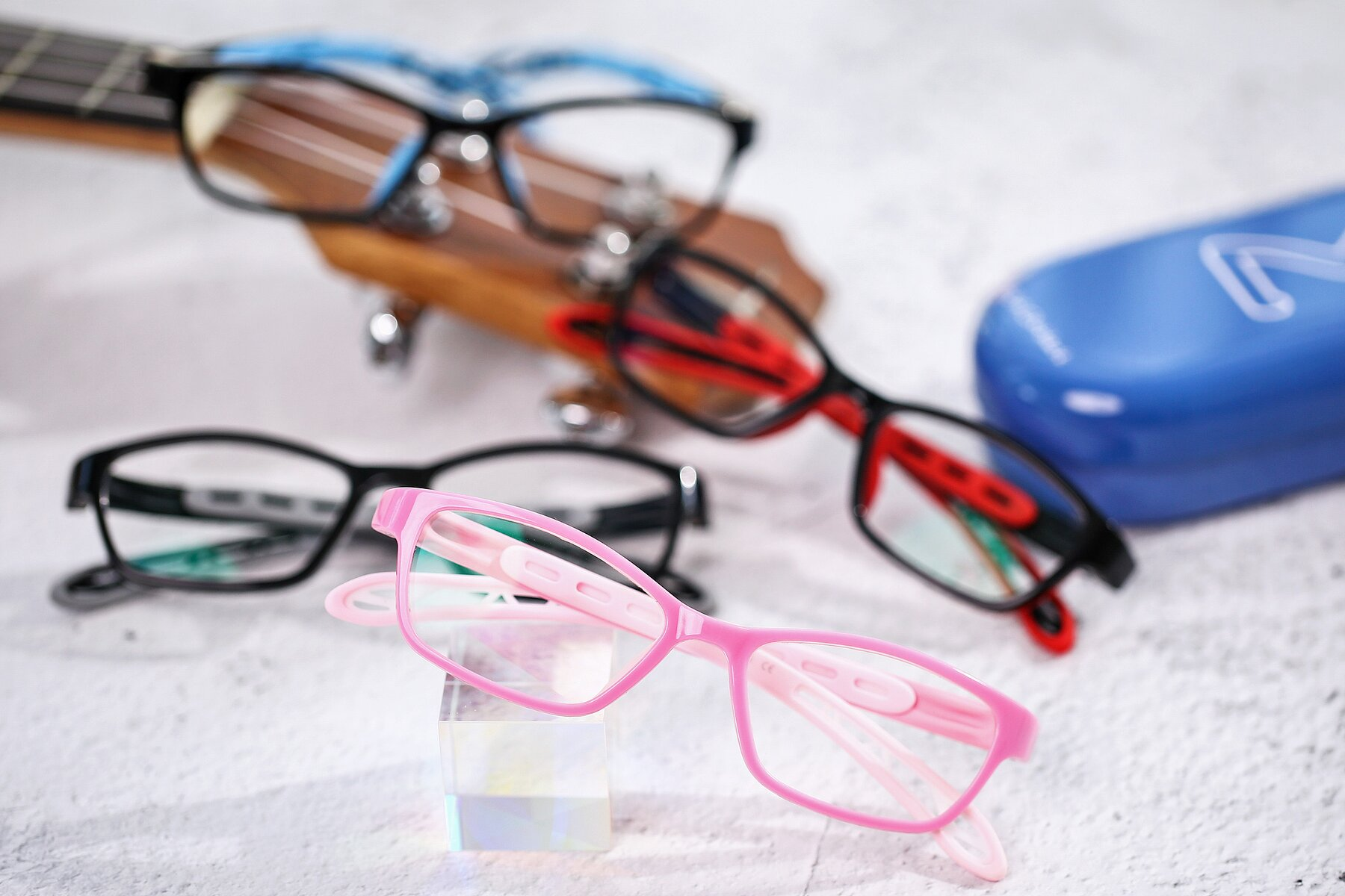 Women's lifestyle photography #4 of 1075 in Pink with Clear Blue Light Blocking Lenses