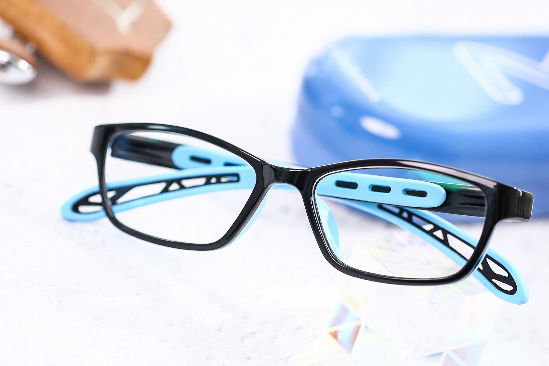 Lifestyle photography #1 of 1075 in Black-Blue with Clear Eyeglass Lenses