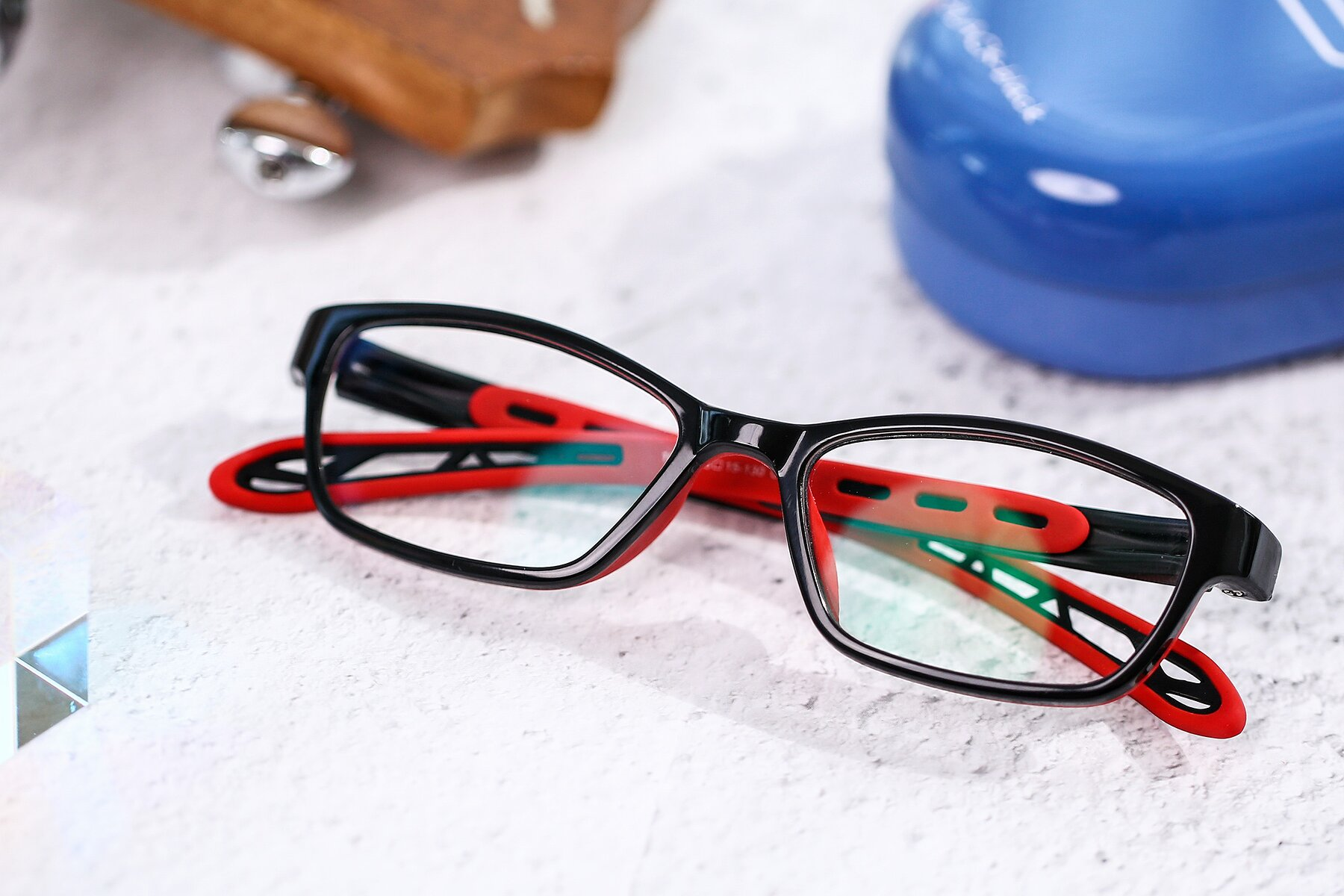 Lifestyle photography #1 of 1075 in Black-Red with Clear Blue Light Blocking Lenses