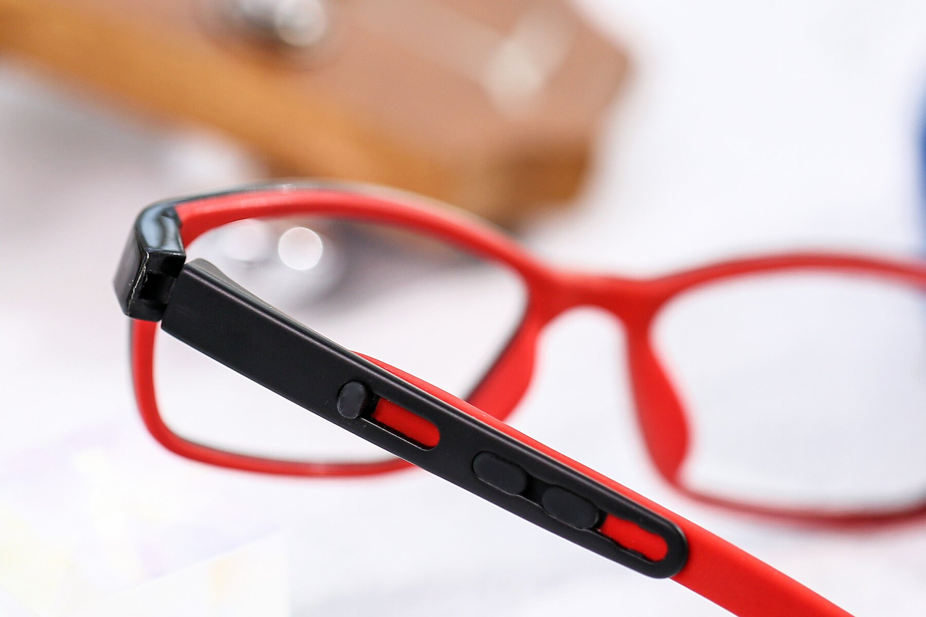 Lifestyle photography #3 of 1075 in Black-Red with Clear Eyeglass Lenses